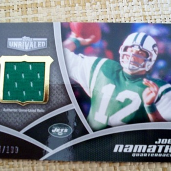 2010 Topps Unrivaled Joe Namath Patch Card