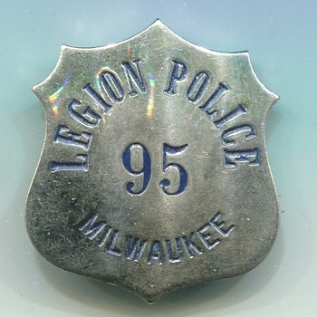 American Legion Police Badge - Medals Pins and Badges