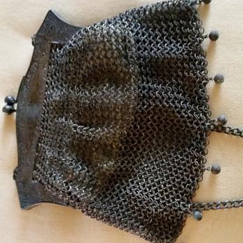 W B Co  German Silver Mesh Purse - Bags