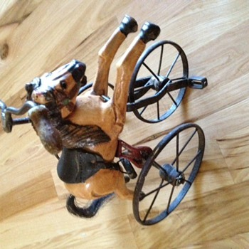 Three wheel bike with wooden horse?? - Toys