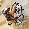 Three wheel bike with wooden horse??