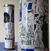 1960s Vintage POP ART UK Floor Standing Bin / Ashtray