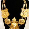 Vintage Accessocraft N.Y.C. Lion Shield Necklace