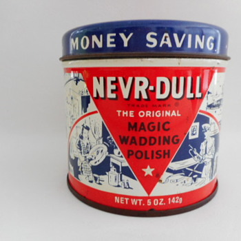 1941 NEVR-DULL Tin - Advertising