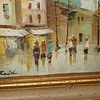 European Street Scene Oil on Canvas