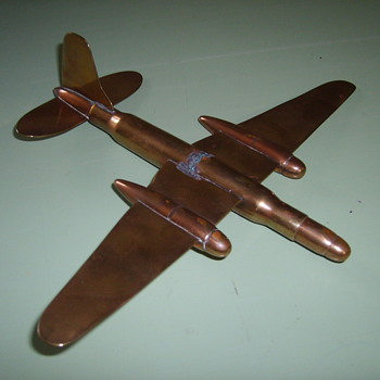 TRENCH ART  AIRPLANE - Folk Art