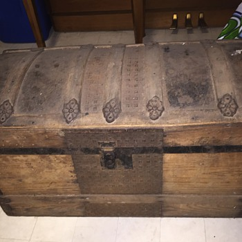 Just acquired this trunk from my Grandfather - Furniture