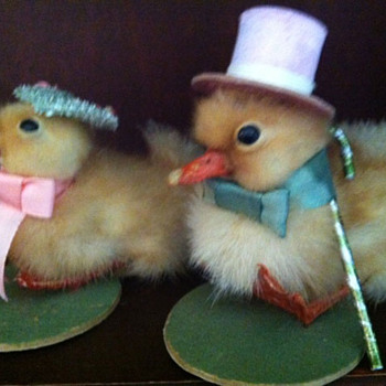 Victorian Ducklings in Easter Attire - Animals