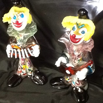 Glass clowns - Art Glass