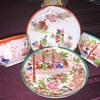 Set of two Asian tea cups and saucers