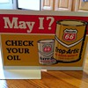Phillips 66 Gas Pump Double-Sided Tin Sign