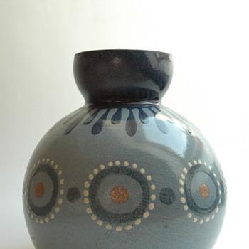 large french art deco pottery vase by LEON ELCHINGER (1871-1942) - Art Deco