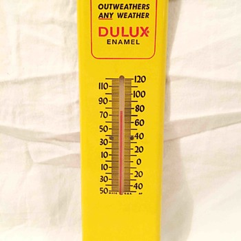 DUPONT DULUX ENAMEL Advertising thermometer