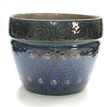 large art deco elchinger pottery flowerpot - Art Deco