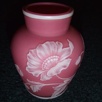 Webb Cameo glass vase - Art Glass