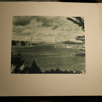 Large and Early Photogravure of the Golden Gate Bridge