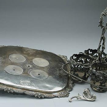 French Silver Cruet Stand Restoration - Silver