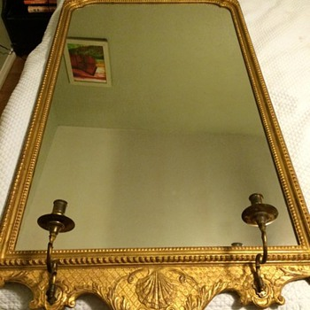 Mirror with candle sticks-no markings