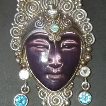 Sagen Goddess Pendant/Pin - Fine Jewelry