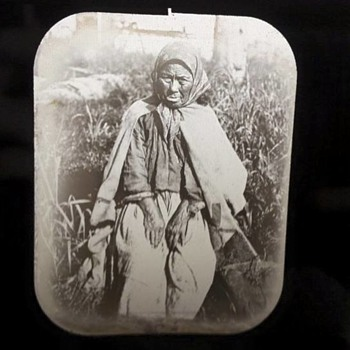 1800's Glass Photo Slide - Photographs