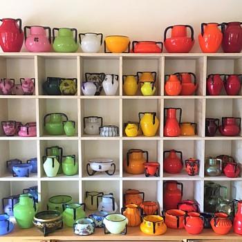 Three handle glass - Color series 1 - Art Glass