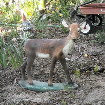 Small Concrete Deer Lawn Ornament - Animals
