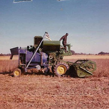 Home built-experimental combine - Photographs