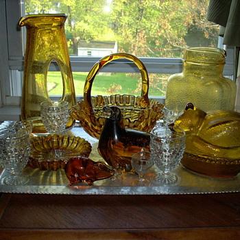 Love the amber colored glass! - Glassware