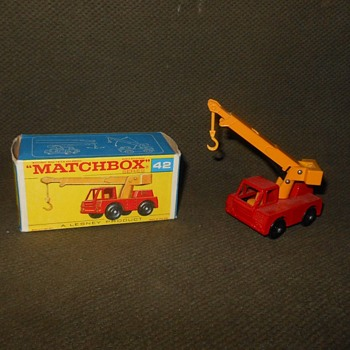 Mononous Multisyllabic Metallic Matchbox Monday Mb 42 Iron Fairy Crane 1969 - Model Cars