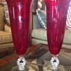 """Pair of Cambridge 14"""" Carmen vases"""