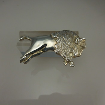 Sterling Silver Buffalo Brooch/Pin - Fine Jewelry