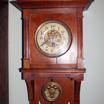 H.A.C. (Hamburg American Corporation) Open Well Wall Clock, 1906 - 1910