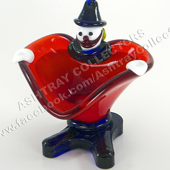 Murano Clown Ashtray - Tobacciana