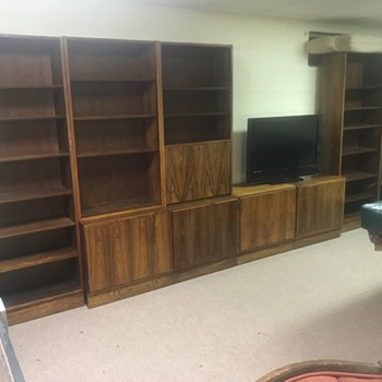 Mid Century Poul Hundevad Danish Rosewood Bookcases and Cabinet Set - Furniture