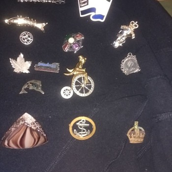 Pin badges all types, UK Military, Sierra leone Miitary, Penny Farthing all ages and types