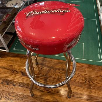 Budweiser bar stool - Breweriana