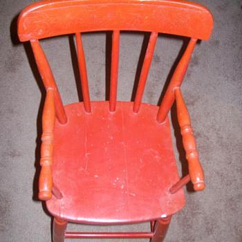 Pre 1920 High Chair - Furniture