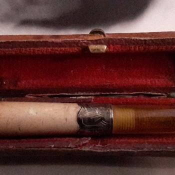 Antique 1896 English hallmarks cigar holder - Tobacciana