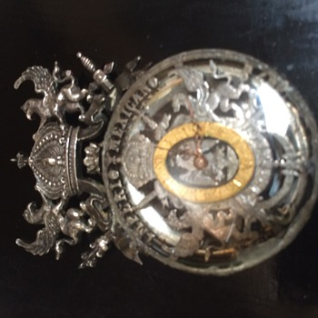 Mexico Silver Lapel Watch - Pocket Watches