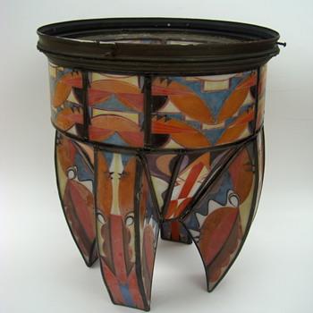 SUPER ART DECO Lamp Shade - E.F. Caldwell??? - Art Deco