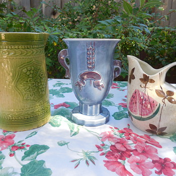 More Flea Market Finds Red Wing Pottery Pitcher and Vase, and McCoy Pottery Stoneware Pitcher - China and Dinnerware