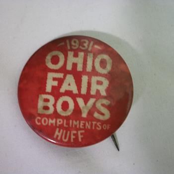 1931 OHIO FAIR BOYS  COMPLIMENTS of HUFF