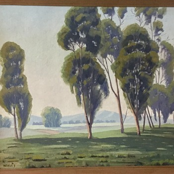 California eucalyptus school painting