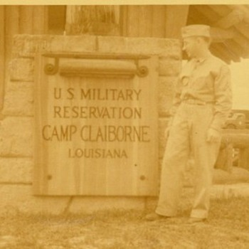 Camp Claiborne Main Gate Photo - Military and Wartime