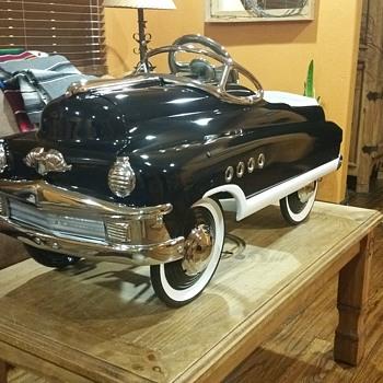 RESTORED 1950s MURRAY TORPEDO ROADMASTER BUICK PEDAL CAR - Toys