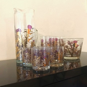 Scottish Thistle Vintage Barware History Gregory Duncan Scotland  - Glassware