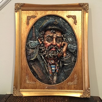Laszlo Kohanecz 3D Painting of Sea Captain 1980 - Fine Art
