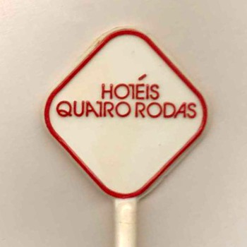 Hotéis Quatro Rodas (Brazil) - Cocktail Stirrer - Advertising
