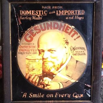 Antique lighted GESUNDHEIT! Sign