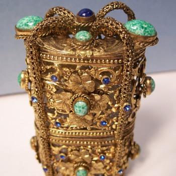 vintage jeweled perfume set - Bottles